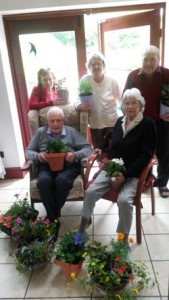 Gardener's world at Park House Worsbrough Residential Home